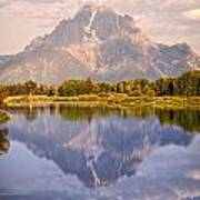 Sunrise At Oxbow Bend 2 Poster by Marty Koch