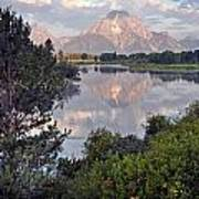 Sunrise At Oxbow Bend 3 Poster by Marty Koch