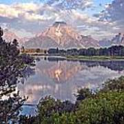 Sunrise At Oxbow Bend 4 Poster