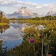 Sunrise At Oxbow Bend 5 Poster by Marty Koch