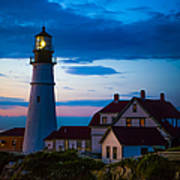Sunrise At Portland Head Lighthouse Poster by Diane Diederich