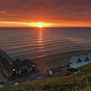 Sunrise At Saltburn Poster