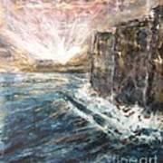 Sunrise At Tal-gurdan Cliffs Poster by Marco Macelli