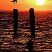 Sunrise Descent - Outer Banks Ocracoke Poster