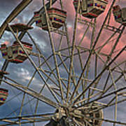 Sunrise Ferris Wheel Poster