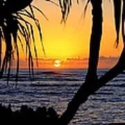 Sunrise Fuji Beach Kauai Poster