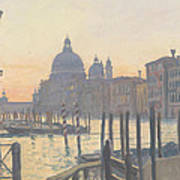 Sunrise Grand Canal Poster