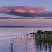 Sunrise Lake Champlain Shore Vermont Clouds Poster
