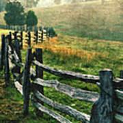 Sunrise Meadow - Blue Ridge Parkway II Poster by Dan Carmichael