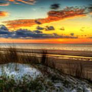 Sunrise On A Jekyll Island Dune Poster