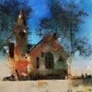 Sunrise On A Rural Church 16 Poster