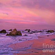 Sunrise On Sea Stacks Harris Sb Oregon Poster