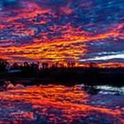 Sunrise On The Fishing Hole Poster