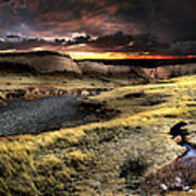 Sunrise On The Pawnee Grasslands Poster by Ric Soulen