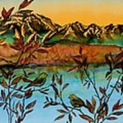Sunrise On Willows Poster by Carolyn Doe