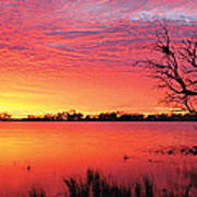 Sunrise Over Coongee Lakes Poster