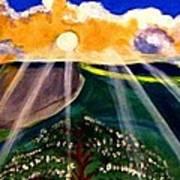 Sunrise Over The Darren Poster