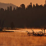 Sunrise Over The Yellowstone River Poster