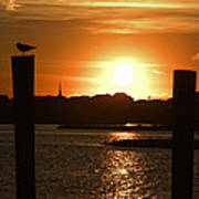 Sunrise Over Topsail Island Poster by Mike McGlothlen