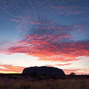 Sunrise Over Uluru Poster