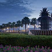 Sunrise Pineapple Fountain Poster