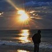 Sunrise Run On The Beach Poster