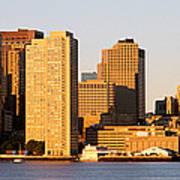 Sunrise, Skyline, Boston Poster