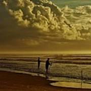 Sunrise Surf Fishing Poster