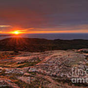 Sunrise View From Cadillac Mountain Poster