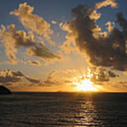 Sunrise With Clouds St. Martin Poster