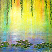 Sunrise With Water Lilies Poster