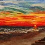 Sunset After Sandy Poster