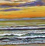 Sunset Along Maine Coast Poster