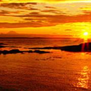 Sunset At Bic Poster