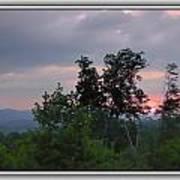Sunset At Brasstown Bald Poster