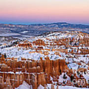 Sunset At Bryce Canyon National Park Utah Poster