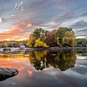 Sunset At Cambridge Reservoir Poster