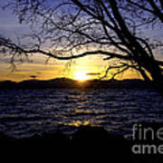 Sunset At Cave Rock Poster