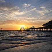 Sunset At Clearwater Poster
