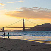 Sunset At Crissy Field With Golden Gate Bridge San Francisco Ca 5 Poster