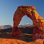 Sunset At Delicate Arch Poster