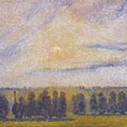 Sunset At Eragny, 1890 Poster