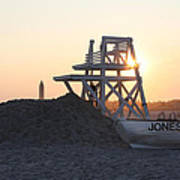 Sunset At Jones Beach Poster by John Telfer