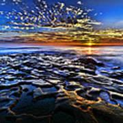 Sunset At La Jolla Tide Pools Poster by Peter Dang
