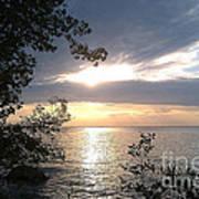 Sunset At Lake Winnipeg Poster