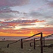 Sunset At Las Glorias Over Sea Of Cortez-sinaloa Poster