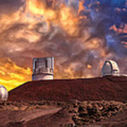 Sunset At Mauna Kea Summit Poster
