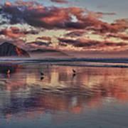 Sunset At Morro Strand Poster