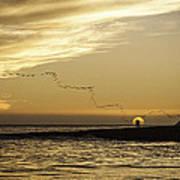 Sunset At Natural Bridges By David Kerbyson  Poster