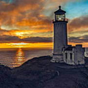 Sunset At North Head Poster by Robert Bales